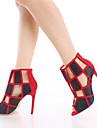 Sandal ( Röd/Vit ) - till KVINNOR Stilettklack - Gladiator/Öppen tå - i Lackläder/Textil
