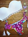 Femei Bikini Femei Bustieră Floral Push-up Spandex / Dantelă