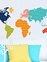 Wall Stickers Wall Decals, World Map PVC Wall Stickers