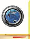 3d vägg klistermärken väggdekaler, ubåt stil haj pvc väggdekorationer