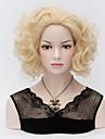 korta lockigt Marilyn Monroe bleka blonda peruker sexig curl värmetåligt hela håret peruk