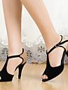 Chaussures de danse ( Noir ) - Personnalisable - Talon aiguille - Similicuir - Danse latine