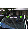 avant de la voiture de taille vignette de verre autocollant de voiture corps autocollant de decoration de voiture: 135 * 20cm