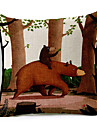 tecknad björn mor&son mönstrad bomull / linne dekorativa kuddöverdrag