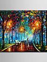 HANDMÅLAD Landskap Horisontell,Moderna Europeisk Stil En panel Kanvas Hang målad oljemålning For Hem-dekoration