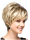 parfaite a court de mode de dame blonds synthetique perruque de cheveux classique avec la queue noire Livraison gratuite