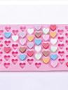 55 hålrum hjärtformad silikon tårta mögel choklad mögel (slumpvis färg)