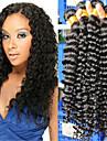 """3pcs / lot 10 """"-26"""" indian jungfru hårfärg naturligt svart vinkar djupt människohår väver"""