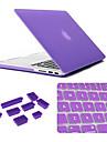 3 i 1 matt fallet med tangentbord lock och silikon damm plugg för macbook air 13,3 tum (blandade färger)