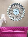 modern stil blomma ps spegel väggklocka