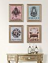 Abstrakt / Stilleben / fantasi Inramad duk / Inramat set Wall Art,Polystyren Champagne Passepartout inkluderad med Frame Wall Art