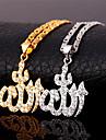 Dame Coliere cu Pandativ Zirconiu Cubic Zirconiu Zirconiu Cubic Placat Auriu Iubire Auriu Argintiu Bijuterii Zilnic 1 buc