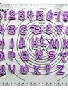 fondant kaka dekoration verktyg tecknade font alfabetet cutter antal bokstäver Lutter satt plast cookie cutter uppsättning 36