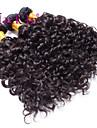 """3 st mycket 12 """"-30"""" brasilianska djupa curl inslag naturligt svart remy människohår väv trasselfri"""
