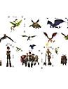 väggdekorationer väggdekaler, tecknad svalna hur man tränar din drake pvc väggklistermärke