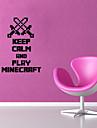 Stickers muraux de style mur de decalcomanies 3d Minecraft mots anglais&cite muraux PVC autocollants
