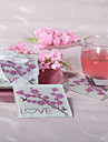 Cherry Blossom Love Glass Coaster