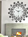 luxe diamant fer mute horloge murale