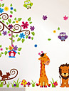 avtagbar lilla djurets hus barnrum / sovrumsvägg klistermärken