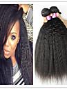 3st / lot 8a mongoliska afro kinky rakt jungfru hår naturligt afro kinky rakt hår väva