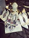 Chaussures Femme - Habille / Decontracte - Noir / Blanc / Argent - Talon Aiguille - Talons / Bout Pointu - Talons - Similicuir