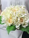 """11.4 """"h hortensia rose et fleur artificielle pour la decoration et bouquet de mariage 1 bouquet"""