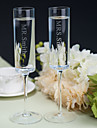 Personalized Toasting Flutes MR and MRS(Set of 2)