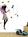 Wall Stickers Wall Decals Style Beautiful Angel Girl PVC Wall Stickers