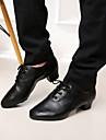 SUN LISA Men\'s Black Chunky Heel Latin/Salsa Dance Shoes