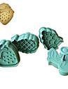 4pcs gateau de motif de fruits et emporte-piece moule