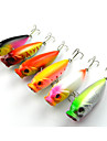 6 PCS Hard Bait Popper 80MM 14.3G Sinking Fishing Lure (Color Assorted)