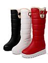 Homme-Habille-Noir / Rouge / Blanc-Plateforme-Bottes de Neige / Bout ArrondiSimilicuir
