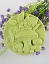 svamp ande formad tvål mögel Mooncake mögel fondant tårta choklad silikon mögel, dekoration verktyg bakeware
