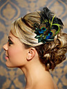 handgjorda bröllops fjäder hår klipp fascinator stycken Fascinators 045