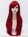 70cm långa lager lockigt hår med sido bang vinröd värmebeständiga syntet harajuku lolita kvinnor peruk