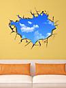 3d väggdekorationer väggdekaler stil blå himmel och vita moln pvc väggdekorationer