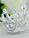 Vrouwen Bergkristal / Licht Metaal / Imitatie Parel Helm-Bruiloft Tiara\'s 1 Stuk