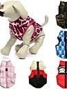 Katter Hundar Kappor Väst Röd Grön Blå Rosa Ros Hundkläder Vinter Vår/Höst Dödskalle Kamouflage Ledigt/vardag Håller värmen