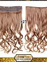 24inch couleur 60cm 120g 27 # sur le clip dans les extensions de cheveux ondules pince sur postiches