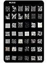 nail art stämpling / stamper bild mall platta spik schabloner / formar för akryl spik tips MLS serie nr.2