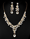Golden Multicolor Zircon Jewelry Set for Wedding Party