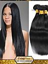 malaysiska jungfru rakt hår väva naturligt svart 8-30 tum 1st / lot 100g per bunt rå obearbetat hår inslag