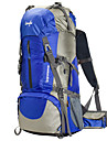 60 L Backpacker-ryggsäckar Ryggsäck Camping Klättring Utomhus Vattentät Regnsäker Multifunktionell BärbarRöd Svart Blå Ljusgrön Orange