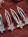 Women Rhinestone/Alloy Headpiece - Special Occasion/Casual High-End Simple Hair Clip