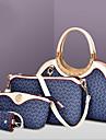 Femme Polyurethane Formel / Decontracte / Bureau & Travail / Shopping Sac a Bandouliere / Cabas Blanc / Rose / Bleu / Marron