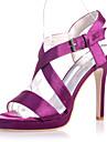 Pantofi pentru femei - Satin - Toc Stiletto - Vârf Deschis - Sandale - Nuntă / Party & Seară -Negru / Albastru / Violet / Fildeș / Alb /