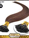 """16 """"brun moyen (# 4) 100s collent remy pointe extensions de cheveux humains"""