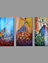 ручная роспись маслом на холсте стены искусства абстрактный три панели танцор голых девушек, готовых повесить