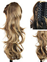 Claw Clip Synthetic  Long Curly Ponytail