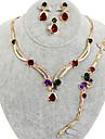 westernrain strass papillon ensemble de bijoux plaque or des femmes